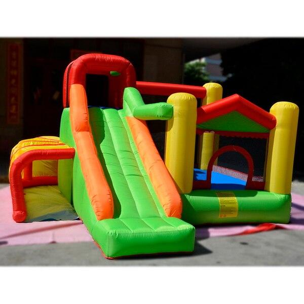HTB12wEPRpXXXXccXXXXq6xXFXXXy - Arshiner Trampoline Bounce House With Inflatable Kids Slide without Blower