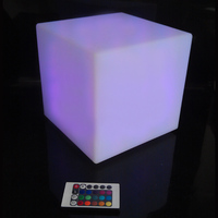 PE Material RGBW Rechargeable 16color changing LED Square Cube factory direct sale 20*20*20cm led cube chair free shipping 10pcs
