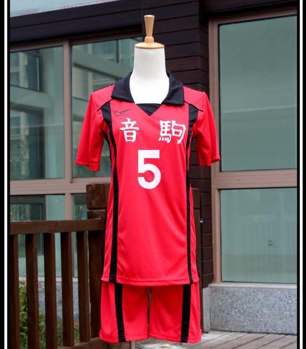 Haikyuu!! New Nekoma High School No.5 Kenma Kozume Cosplay Costume Team Jersey No.1 Kuroo Tetsurou Uniform