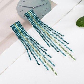 Σκουλαρίκια από αλυσίδες crystal Swarovskis αντιαλλεργικα σε αποχρώσεις που ιριδίζουν Κοσμήματα Σκουλαρίκια Αξεσουάρ MSOW