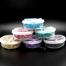 50 pcs Hot Selling 6 Colors Small Hair Perm Clip Metal Styling Clips C-09 For Salon, S Size Extension With Box