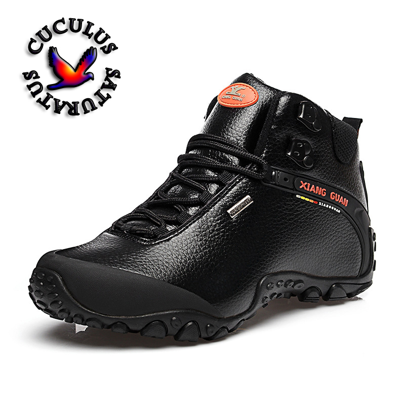 XIANG GUAN Waterproof Men Hiking Shoes Outdoor Sneaker Climbing High Genuine Leather Mountain Sport Trekking Shoes Boots 81998 2017 tba man hiking shoes outdoor sneaker climbing high leather mountain sport trekking tourism boots botas waterproof shoes