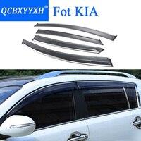 QCBXYYXH Car Styling Awnings Shelters Window Visors Rain Eyebrow For KIA K2 K3 K3S K5 KX3