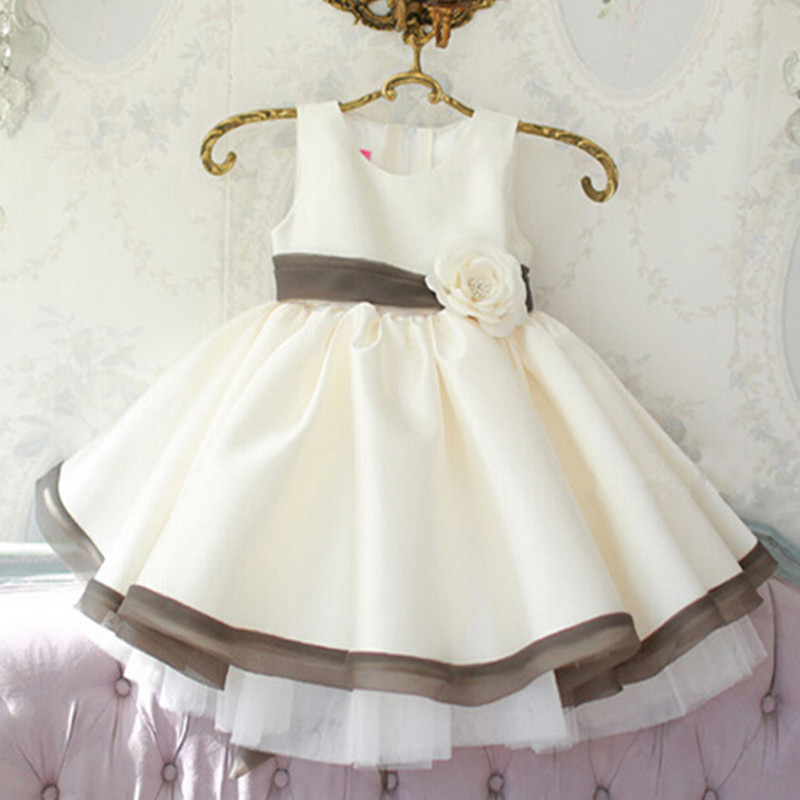 Us 66 5 Baby Wow Real Direct Selling Baby Girl Dress Wedding Christmas 1 Year Birthday Flower Dresses Clothing Infant Princess 7028 In Dresses From