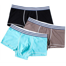 3pcs/lot Mens underwear Boxer 3XL shorts Modal cotton solid color Plus size mixed colors boyshort loose breathable panty 301