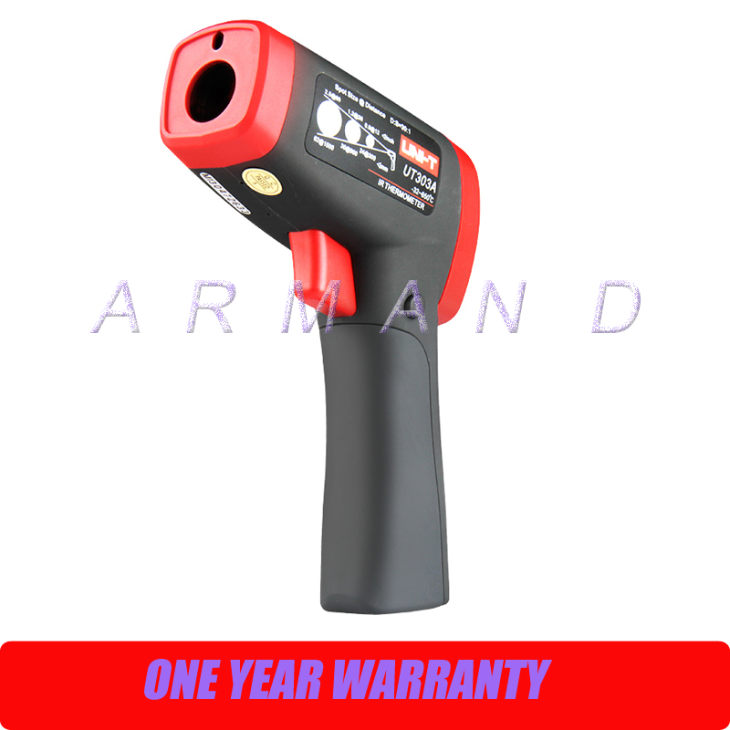 Industrial Infrared Thermometer, -32 - +650 Centigrade, 30:1 UT303A tes 1326s industrial infrared thermometer 35 500c