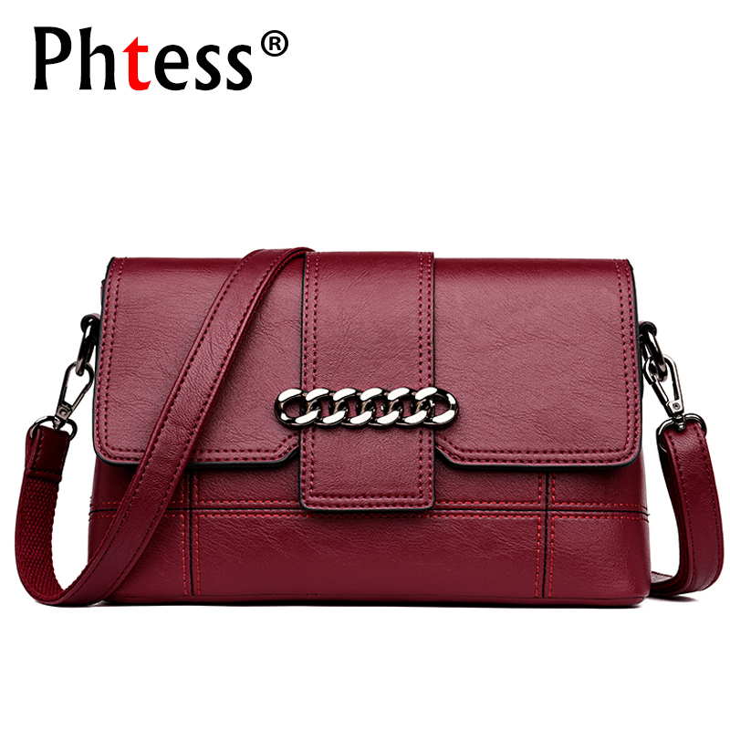 2018 New Female Vintage Leather Shoulder Bags Ladies Clutch Envelope Crossbody Bags For Women Small Designer Woman Messenger Bag