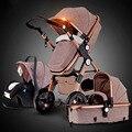 Oro cochecito de bebé alto paisaje puede sentarse o mentir choque cubierta niños bb cochecito de bebé entrega libre