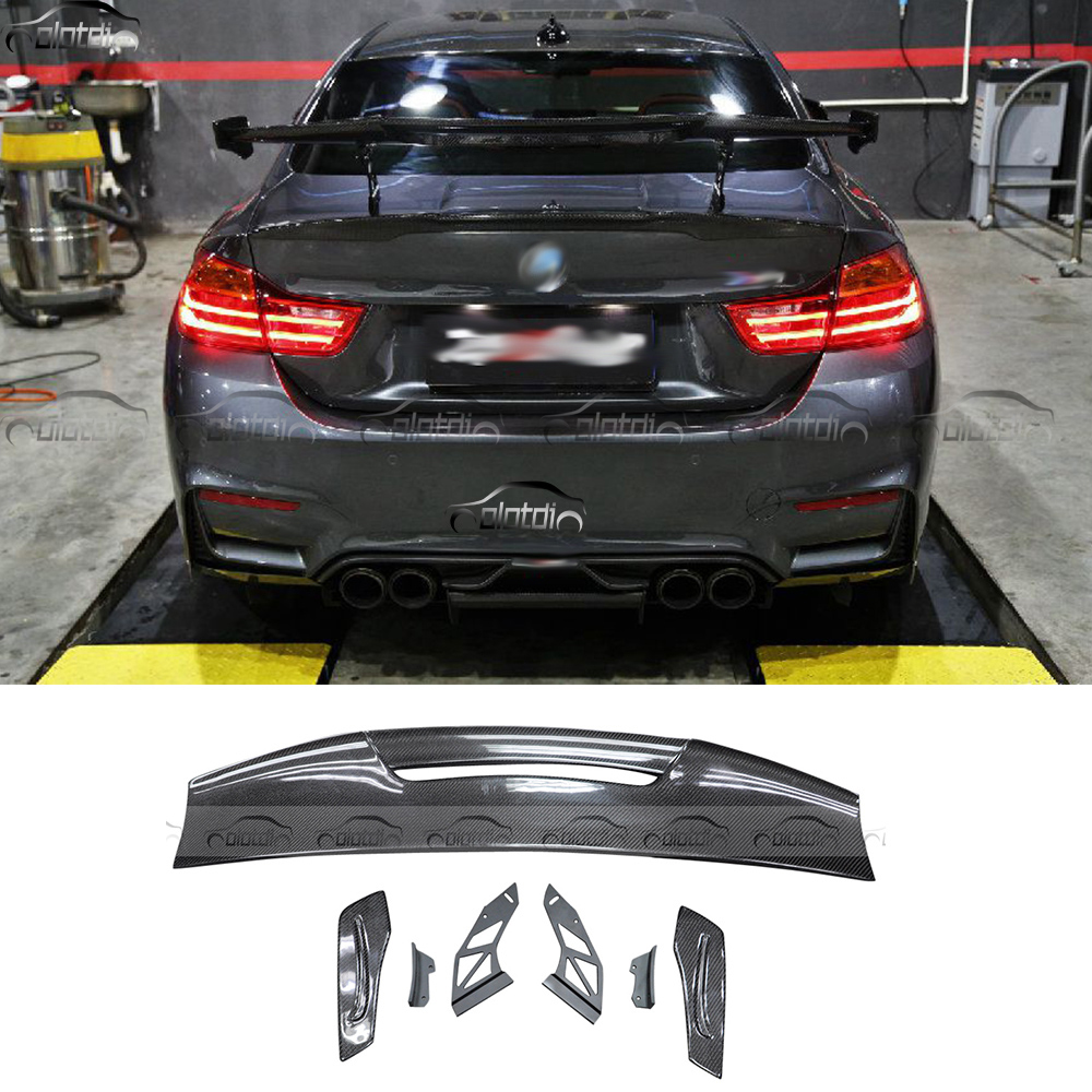 Car Styling Carbon Fiber Rear Trunk Lip Wing Spoiler For Universal BMW M1 M3 M4 M5 M6 MAD GT Splitter Boot