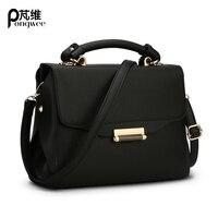 PONGWEE Women Messenger Bag Brand Designer Handbags 2017 Spring Women Flap Shoulder Bags Small Candy Colour Lady Bag Fresh