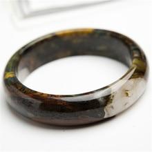 100% Genuine Namibia Natural Yellow Pietersite Gems Stone Charm Fashion Women Lady Bangle Bracelet Inner Diameter 58mm
