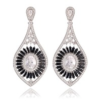 GrayBirds New Fashion Shiny High Quality AAA CZ Earrings For Wedding Women Platinum Plated More Colors