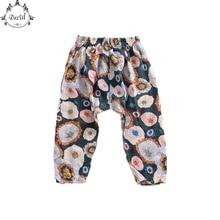 ФОТО floral kids legging soft summer children cool harem pant   9 colors to choose fashion children toddler pants