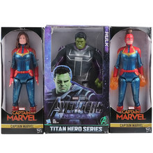 Figuras de acción de los vengadores capitán Marvel carry Danvers Hulk Marvel Legends Super Héroes 30cm juguetes para niños regalo(China)