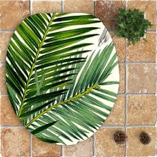 Non Slip Green Plants Printed Bath Mats