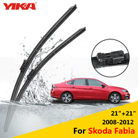 YIKA 24 19 For Skoda Fabia 2008 2012 Janitors For Cars Glass Rubber Windshield Wiper