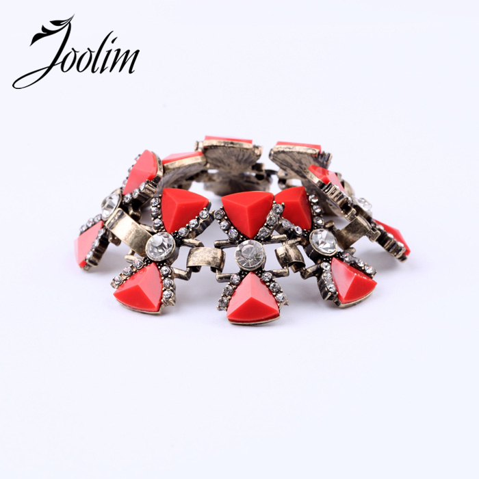 JOOLIM Jewelry Wholesale/ Luxury Gorgeous VIntage Red Bow Charm Bracelet Design jewelry ...