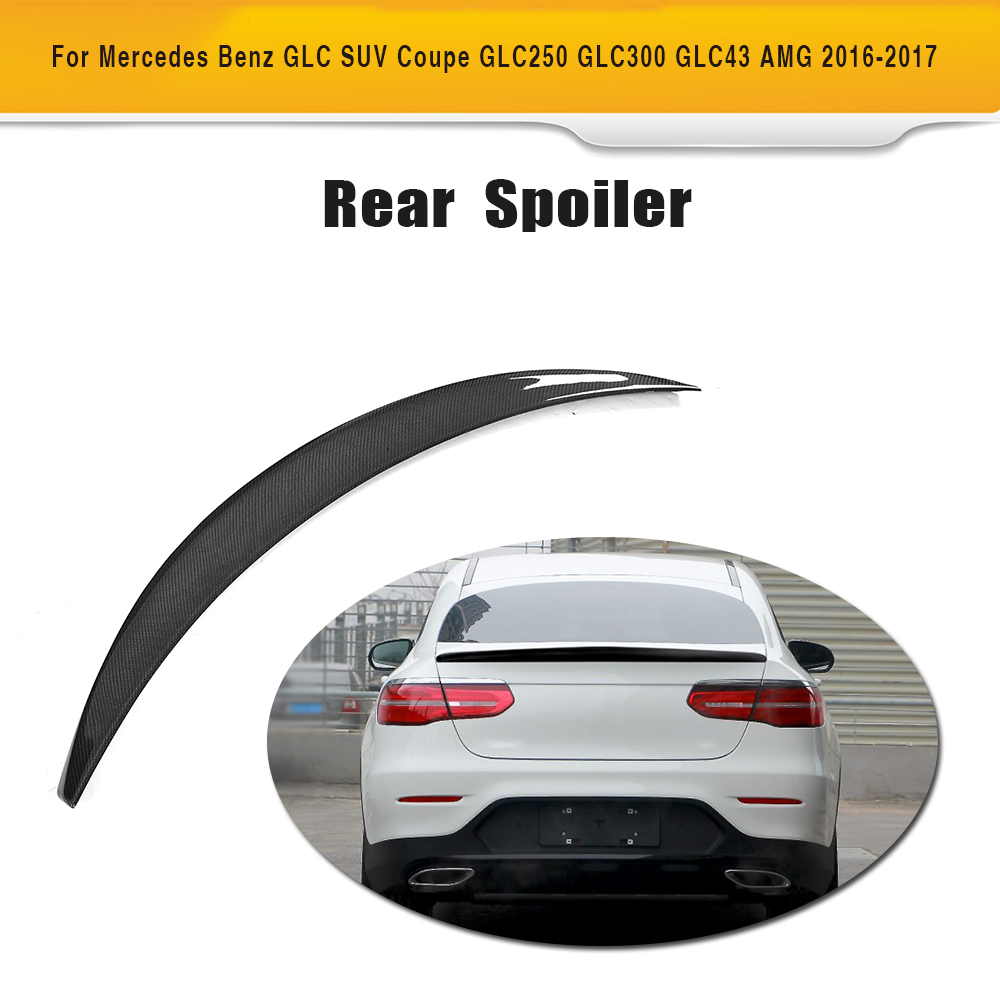 For Mercedes Benz Glc Class Coupe Glc300 Glc250 Spoiler: Carbon Fiber Rear Lip Spoiler Window Wing For Mercedes