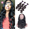 Pre Plucked 360 Lace Frontal With Bundles Malaysian Body Wave 3 Bundles With 360 Lace Frontal Closure With Bundles Human Hair