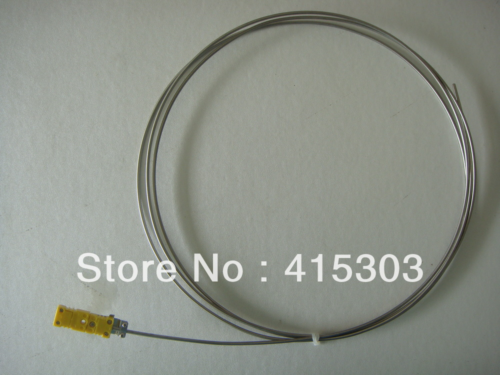 ФОТО 3*1000mm K type  Mineral Insulated thermocouple wth Mini Thermocouple Connector  China Post Free Shipping