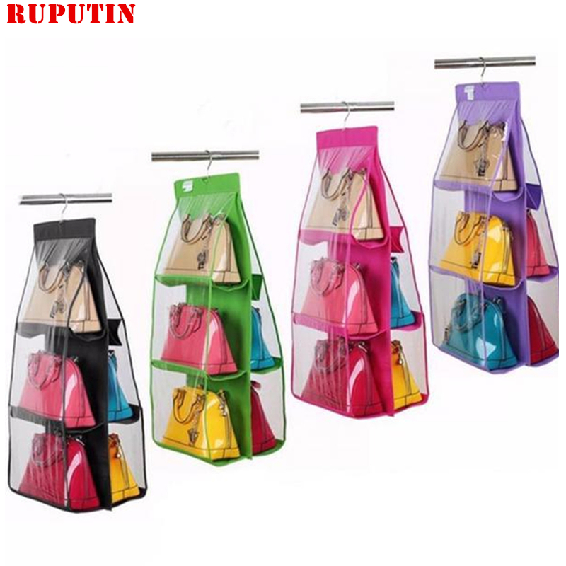 RUPUTIN Drop Ship Hanging Purse Organizer Women Handbag Organizer Portable Folding Hanging Shoulder Bags Hanging Clothing Bags