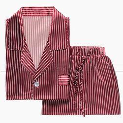 Mens silk satin pajamas pajama pyjamas pjs sleepwear set loungewear u s m l xl xxl.jpg 250x250