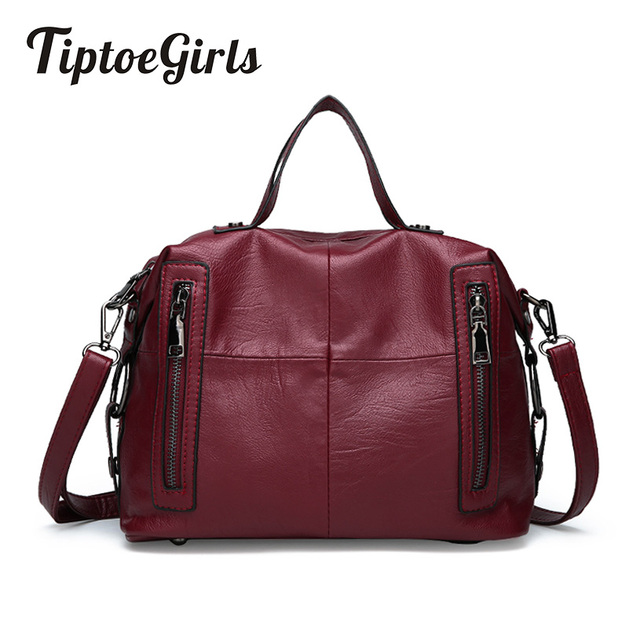 032a181185be Stitching Soft Leather Middle Aged Mother bag New Fashion High Quality  Handbag Casual Wild Shoulder Messenger Bag-in Shoulder Bags from Luggage &  Bags ...