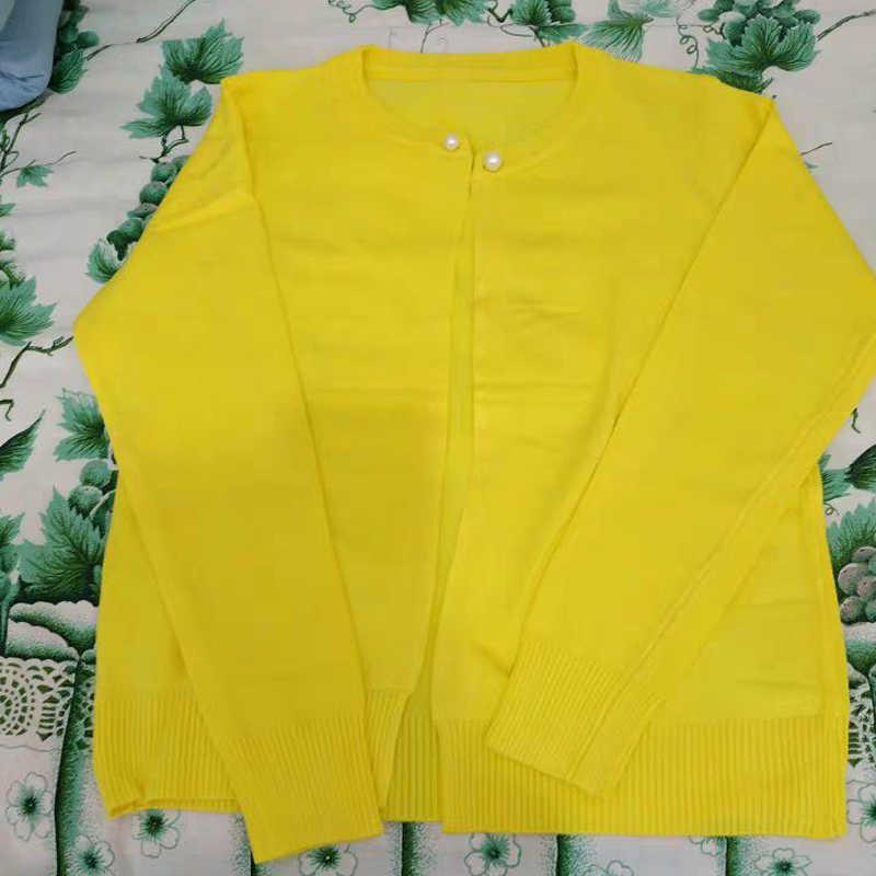 ¡Novedad de otoño 2019! cárdigan de punto para mujer, chaqueta fina, elegante, informal, de manga larga, cárdigan tejido, suéter, chaqueta R191