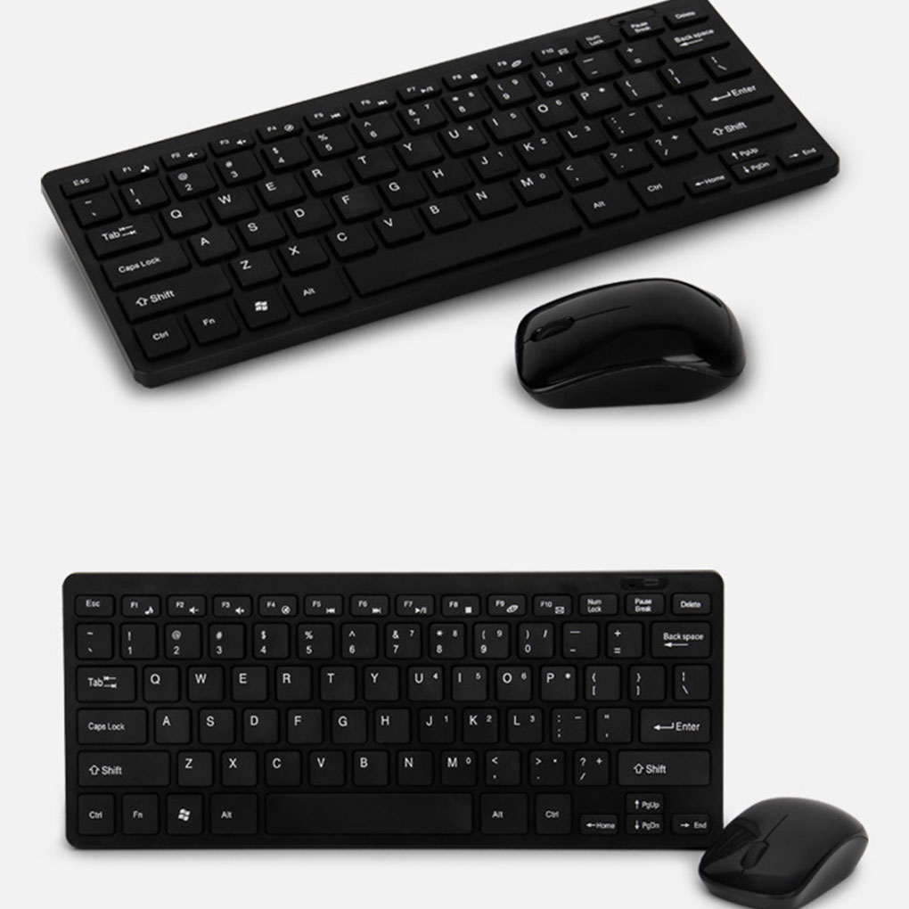 New 2.4G Wireless Keyboard And Mouse Mini Mutimedia Keyboard Mouse Set For Notebook PC Office Supplies