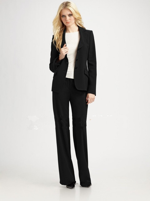 1aae0919d 2015 venta al por mayor nueva elegante otoño invierno Formal mujeres ropa  de trabajo pantalones trajes