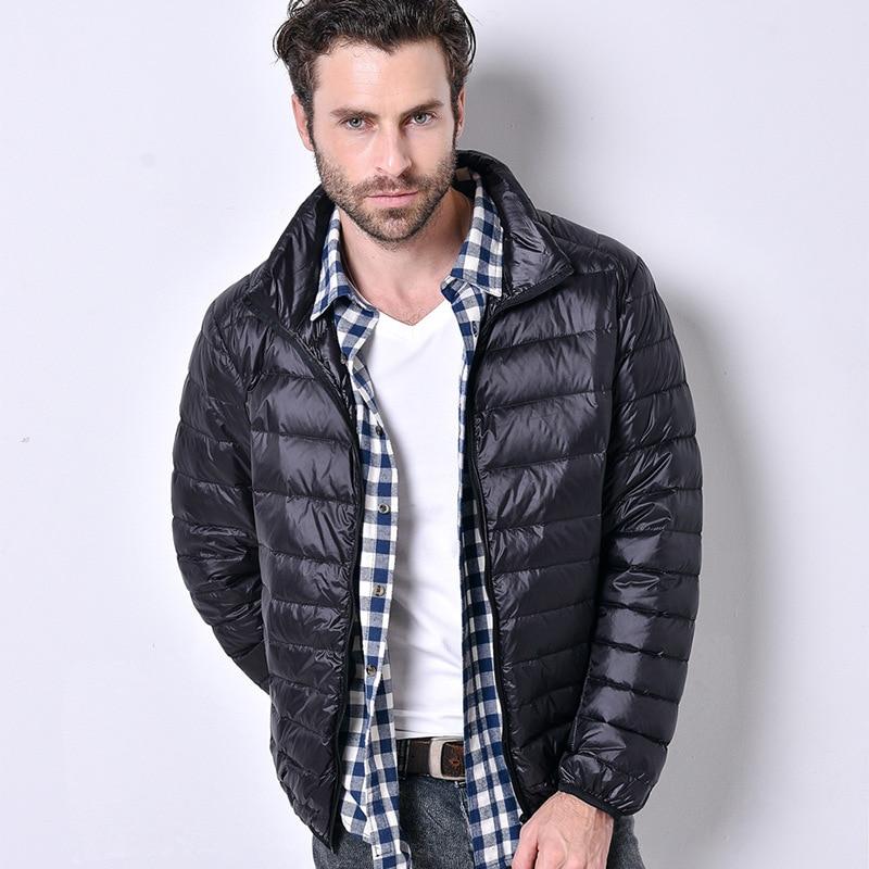 Men Brand Fashion   Down   Jackets   Coat   2019 Autumn Winter Men's Ultralight Duck   Down     Coat   Outwear Male Casual   Down   Parka   Coats