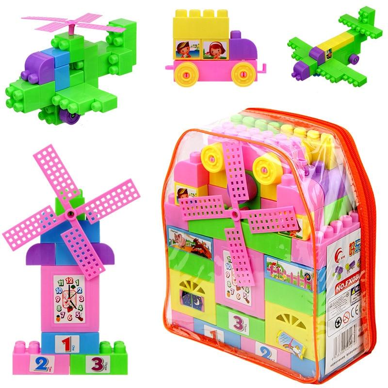 73PCS Pack New Brand Building Blocks Enlighten Plastic ...