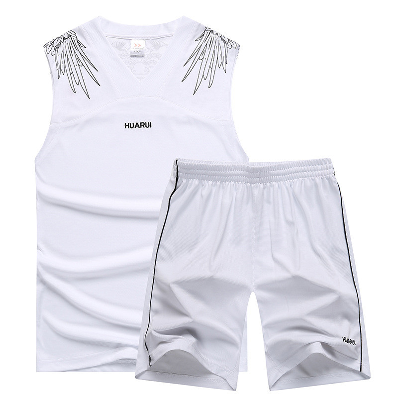 Men's Casual Tracksuit Summer Two Pieces T-shirt +Shorts Male Sportswear Basketball Set Running Clothes Asian Size XL-5XL(China)