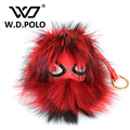 W.D.POLO New fashion design bag charm bag decoration chic monster Fur new trendy popular bag matching stuff M2082