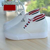 Canvas Shoes Women Lazy Pedal White Shoes Muffin Bottom Set Foot