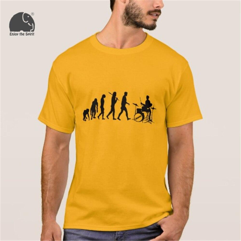 Enjoythespirit мода лето мужской футболка Барабаны комплект Барабаны mers забавные Барабаны Ming музыка Эволюция футболка круглый Средства ухода за к...