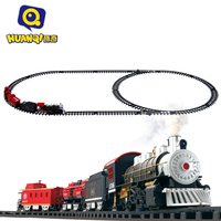 Classic Toys Battery Operated Railway Rail Train Electric Toys Railway Car With Sound Light Smoking Rail