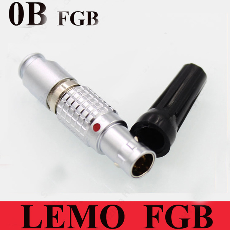 LEMO 0B Connector FGB 0B 2 3 4 5 6 7 9 Pin Connector LEMO FGB.0B.30*.CLAD**Z Two Keying (60 Degree) Male Plug-in Connectors from Lights & Lighting