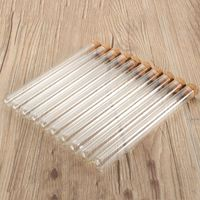 Kicute 100pcs/pack Lab Glass Test Tube With Cork Stoppers 15x150mm Laboratory School Educational Supplies