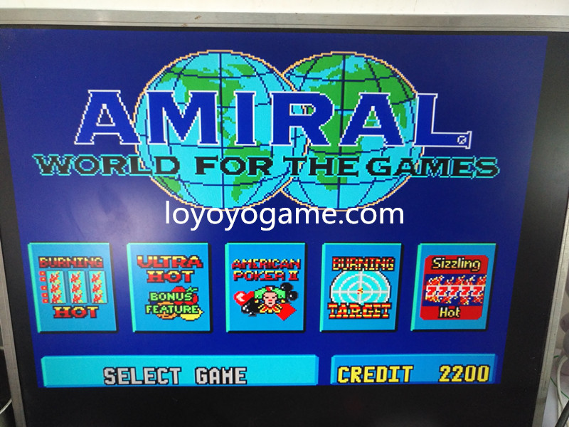 slot video gambling game HOT SPOT AMIRAL 5 IN 1 slot game plate PCB casino boards CGA casino games multi game xxl 17 in 1 with high win rate 90 96% slot game board slot game pcb