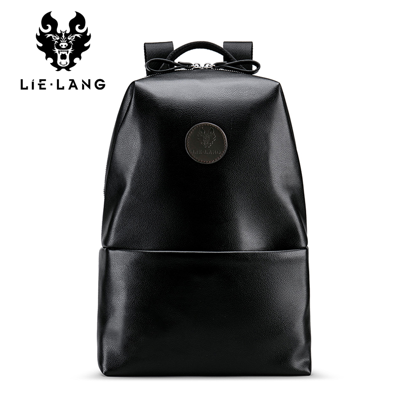 LIELANG High Quality PU Leather Men Backpack Fashion School Bags For Teenager Man Large Capacity Casual Bag Men Black Backpacks