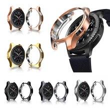 Защитный чехол из ТПУ с покрытием для samsung Galaxy Watch 46 мм, защитный чехол с рамкой для Galaxy Smart Watch 42 мм, аксессуары