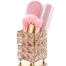 Crystal Makeup Brush Storage Bucket Eyebrow Pencil Comb Fini
