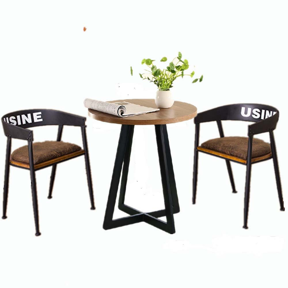 American Iron wood tables cafe tables cafe tea shop ...
