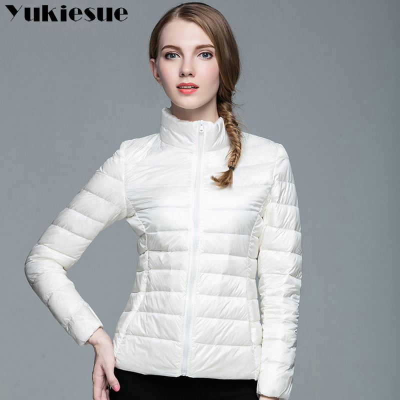 2017 Ladies Winter Warm Coat Women Light 90% White Duck Down Jackets Womens Parka candy color Female Jackets Plus size