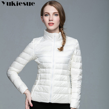2017  Ladies Winter Warm Coat Women Ultra Light 90% White Duck Down Jacket Women's Parka candy color Female Jackets Plus size