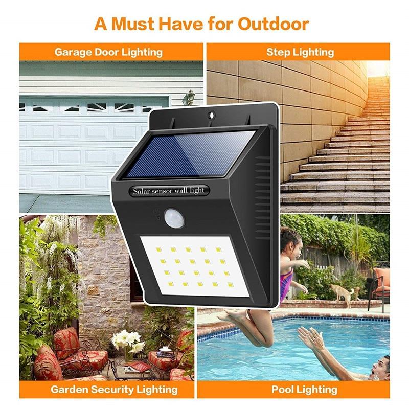 LED Sensor Night Lights with Motion Sensor Wireless Wall Lamp Outdoor Waterproof Solar Garden Streets Light Road Auto Night Lamp (9)