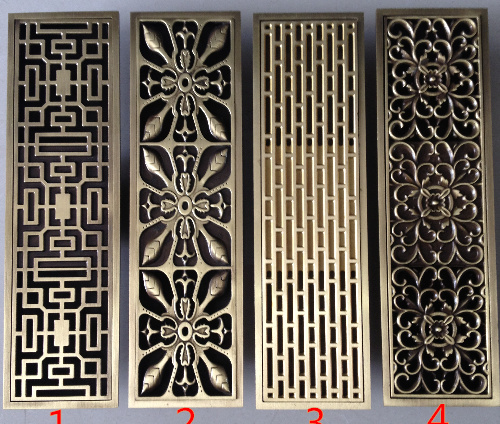 Copper antique anti-odor floor drain shower floor drain rectangle floor drain shower drain