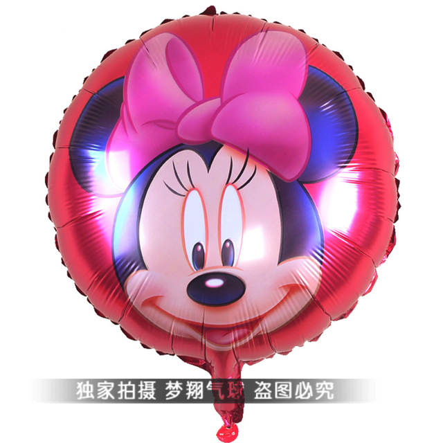 free shipping 18inch minnie foil balloon,18inch round foil balloon, mylar balloon  size 45x45cm