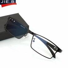 лучшая цена Titanium alloy Transition Photochromic reading glasses sun reading sunglasses for women and men change men business style